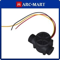 """DC 3.5-24V G1/2"""" Hall Effect Water Flow Frequency Counter Sensor With Waterproof #ST107"""