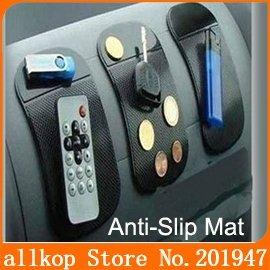 Black Car Mat Magic Sticky Anti-Slip Anti-shake anti-shock Car Pad for Cell Phone MP3 MP4 CD box glasses