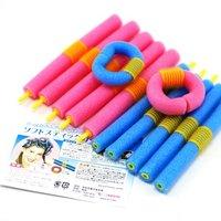 FREE SHIPPING 12pcs/bag HOT Magic Long  Circle Hair Styling Roller Curler  JHB-125