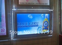 4PCS LED Crystal Ultra-thin 11mm light box A2, LED advertising light box, free shipping