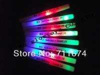 free shipping hot sale can customize logo foam led baton wholesale led foam stick  foam glow stick led foam glow