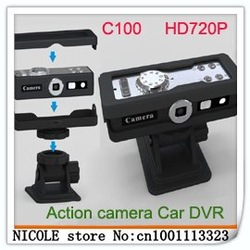 Net Car C100 HD DVR 720P Car Black box Car Recorder DVR HD C100 DVR sport HD camera Free Shipping- In Stock(China (Mainland))