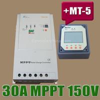3215RN 30A Tracer MPPT Solar Controller With MT-5 Remote Meter, 30AMPS 12V 24V Auto MPPT PV Panel Battery Charge Regulators