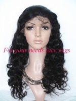 "(1#/1B#/2#//4#), 100% human hair body wave 5A Brazilian virgin hair  front lace wigs 8""-24"""