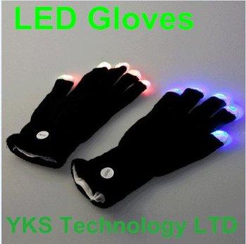 7 Modes LED Gloves Rave Light Finger Flashing Glow Mittens