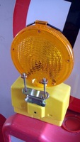 Yellow warning traffic lamp (sample)