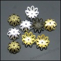 1200pcs/lot Wholesale 14mm For Choice Plated Silver Gold Bronze Filigree Flower End Spacer Beads Caps Jewelry Findings