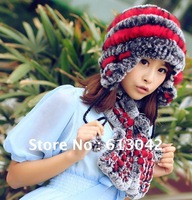 100% rabbit hair, fur earmuffs cap 2012 ms new Bohemian, pure manual weaving