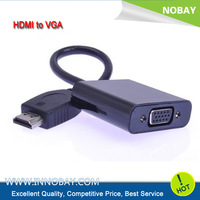 HDMI to VGA Adapter Video Converter Cable Cord NO Power 1080P PS3 Notebook TV