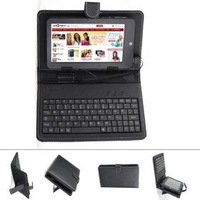 Protective Leather Keyboard Case for 7 inch Tablet PC (USB Port)