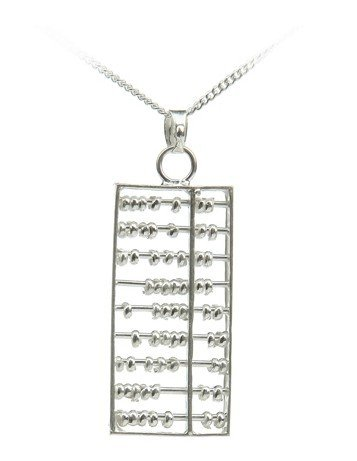 OYAG jewelry~Wholesale 100% Genuine 925 Sterling Silver Standard Size 16inch Abacus pendant necklace.TOP quality.Free shipping.(China (Mainland))