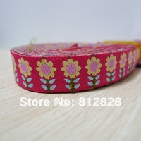 20 Meters 5/8'' 16mm Wide Sunflowers Woven Jacquard Ribbon