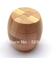 Free shipping Archaize great barrel Construction Puzzle Wooden Brain Teaser