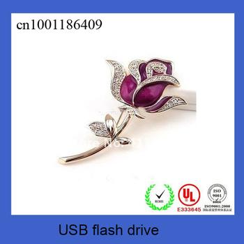 1 piece At Resale ~High Speed Valentine Rose Jewelry gift USB drive 1GB/2GB/4GB/8GB/16GB USB gift