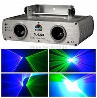 2 Lens Green+Blue 450nm Laser Stage Disco Lighting DJ Party Show Light DMX512,DL-22GB