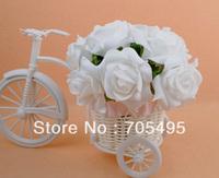 HOT SALE!!! Free Shipping Wedding Bridal Rose Flower Bouquet 10 Stems
