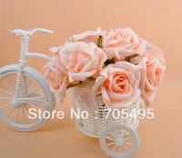 HOT SALE!!! Free Shipping Artificial Wedding Bridal PE Foam Rose Flower Bouquet 10 Stems