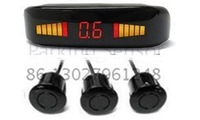 Guaranteed 100% Reverse Sensor Parking Radar New LED Display Car Parking Sensor System with 3 Sensors + 2012 Best Selling