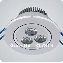 3w  led ceiling lighting Eistar chip with CE,ROHS ,FCC certifaction  240-270lm (China (Mainland))