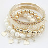 Min order is 10USD (can mix order ) wholesale colorful stone bracelet pearl bracelet sets,low price good quality ,free shipping