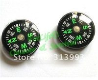 Freeshipping 100pcs/lot mini 20mm survival button compass camping outdoor compass LS9011