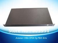 1U rack 4FXO VOIP PBX Elastix system, TDM410P asterisk card included