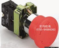 emergency stop push button switch NC contact push locked turn reset