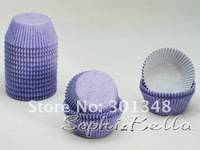 100Pcs B144 Purple Dark Fringe Paper Cupcake Liners Baking Cups Muffin Cases C
