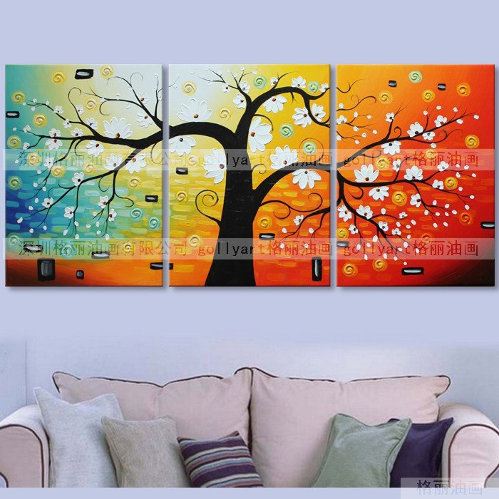 Nice modern abstract wall art Huge Modern Abstract on Canvas tree tOil Paintings Art,home decoration art canvas painting(China (Mainland))