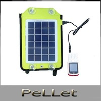 wholesale-2.5 W portable car solar charger mobile phone MP4 MP3 universal charger