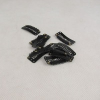 Free shipping top quality 500pcs black snap clips for feather hair extensions