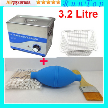 free shipping 3.2L 100W  Digital PCB  Mechanical Ultrasonic Cleaner JP-020 B with 1 Free Basket 110v 220v Available