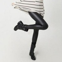 Autumn and winter beaver velvet matt imitation leather pantyhose thicker cashmere leggings female models Leather pants