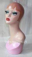 Makeup Vintage Female Fiberglass Mannequin Head