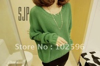 Free shipping. Promotion .2013 spring o-neck loose batwing type long-sleeve pullover sweater basic shirt outerwear