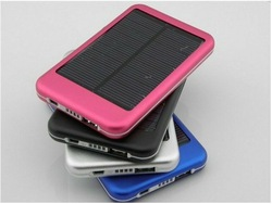 free shipping high quality full power 5000mah solar panel charger External Battery for iphone 5, samsung S4(China (Mainland))
