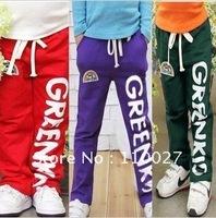 2014 baby pants drawstring trousers fashion fleeces slacks boy longs 4pcs wholesale cotton greenkid  straight jeans warm clothes