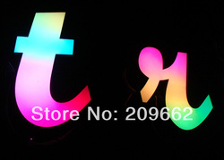 Acrylic RGB LED front lit channel letter sign(China (Mainland))