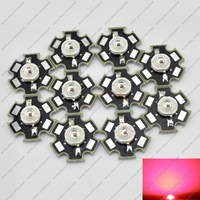 10PCS 1W Deep Red High Power 660NM Plant Grow LED Emitter Light 350mA with 20mm Star Platine Heatsink