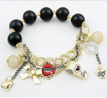 Min.order is $5 (mix order) Free Shipping Vermilion Whistling Bangle Bow Love Bracelet OB0033