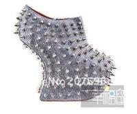 new arrive! !!free shipping  platforms super high heels platform pumps wedge shoes brand shoes leather rivets shoes dress shoes