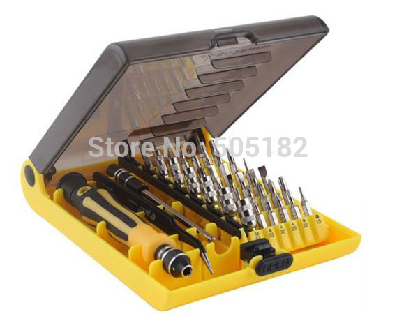 Free post shiping for 1SET Precision 45 In 1 Electron Torx MIni Magnetic Screwdriver Tool Set +drop shipping +tracking number(China (Mainland))