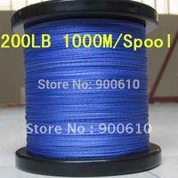 Super Strong 100% UHMWPE 8-Braid Fishing Line 200LB 0.8MM 1000M/Reel Free Shipping