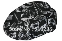 2012 Fashion Style Chef hat  Printed with kitchen euipments,sold by pc