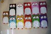 20pcs/lot 3D cute soft owl case nighthawk cover rubber skin for iPhone 4 4G 4S with simple package