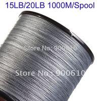 Super Strong 100% UHMWPE Fishing Line 4-Braid 15LB/20LB 1000Meters/Reel