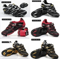 Mens MTB Cycling Shoes Athletic Shoes Nylon-fibreglass soles with clips racing bicycle shoes for Road Racing and Mountain Racing