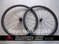 U shape 25mm width carbon wheelset , 38mm clincher bicycle wheel free shipping in stock can supply