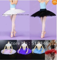 Free shopping/ New Adult Professional Ballet Tutu Hard Organdy Platter Skirt Dance Dress 6color /ballet tutus