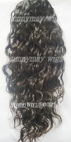 Curly  Natural color Malaysian Virgin Hair Ponytail